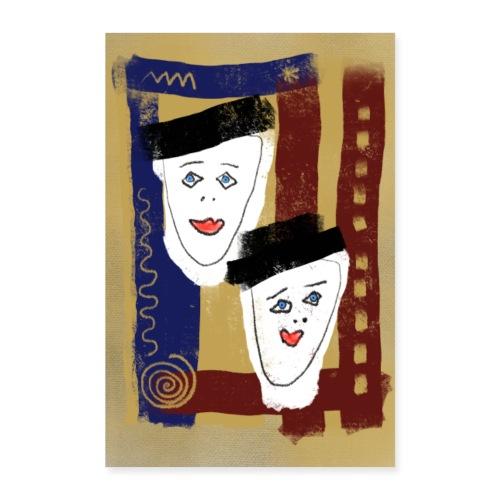 Zwillinge Poster - Poster 60x90 cm