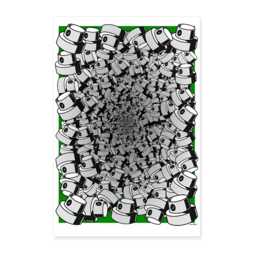 Graffiti Fat Cap Poster - Poster 60x90 cm