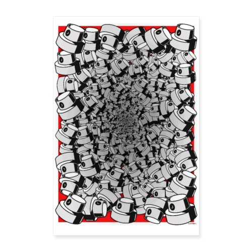 Fat cap overflow - Poster 60x90 cm