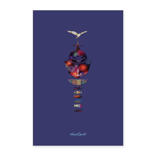Limited Plakat lila - Poster 60x90 cm