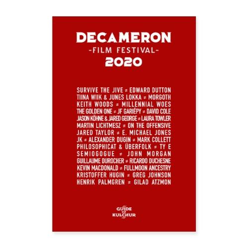 DECAMERON Film Festival 2020 - Poster 24 x 35 (60x90 cm)