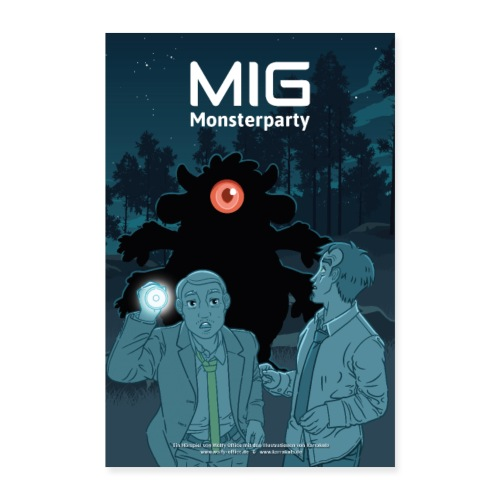 MIG Monsterparty Poster - Poster 60x90 cm