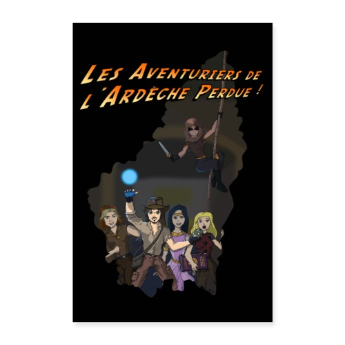 Les Aventuriers de l'Ardèche Perdue - Poster 60 x 90 cm