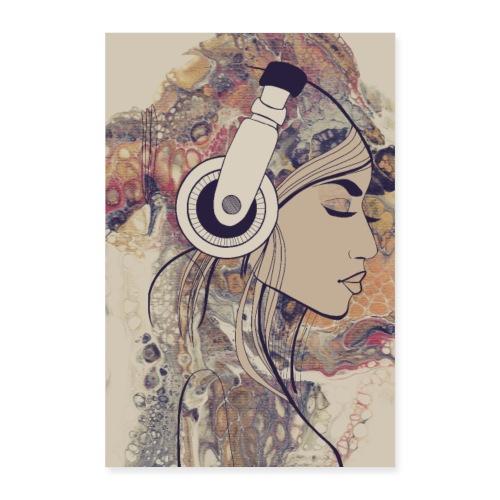 lady auf acryl - Poster 60x90 cm