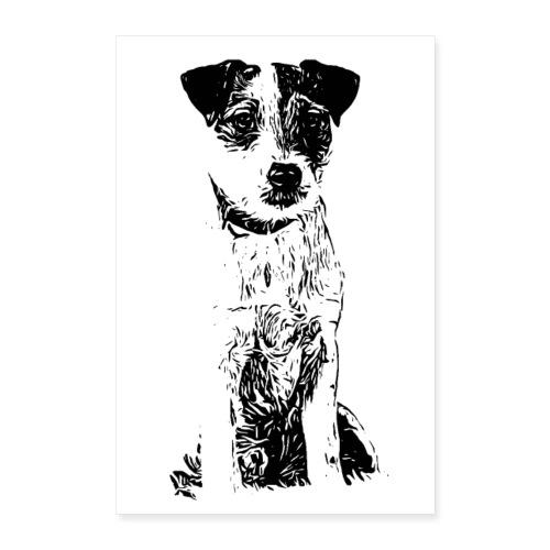POSTER Parson Russell Terrier Hund Design Geschenk - Poster 60x90 cm