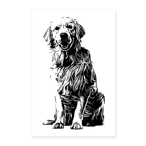 POSTER Golden Retriever Labrador Design Hunde - Poster 60x90 cm
