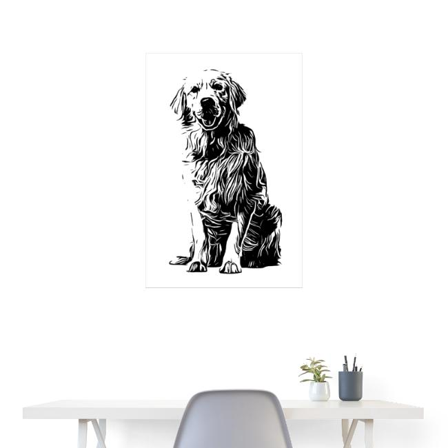 POSTER Golden Retriever Labrador Design Hunde