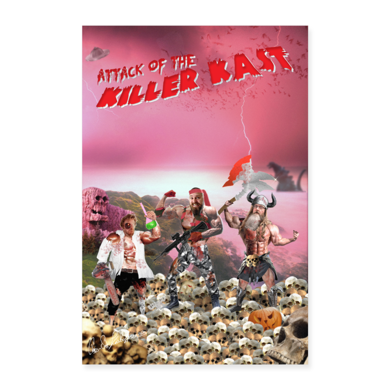 Attack of the Killer Kast poster - Poster 60x90 cm