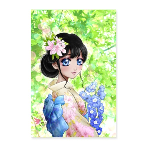Amina in Japan poster - Poster 60 x 90 cm