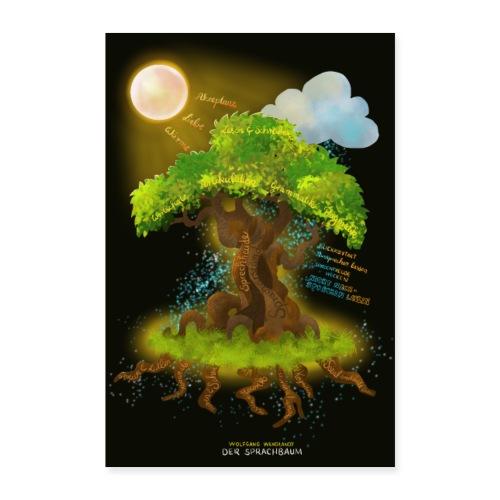 Der Sprachbaum - Poster 60x90 cm