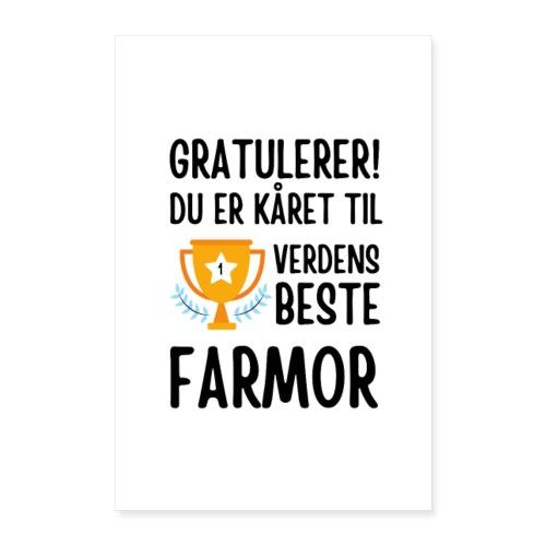Verdens beste farmor - Poster 60x90 cm