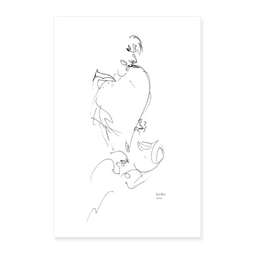 POSTER - SAXOPHONIST - Poster 60x90 cm
