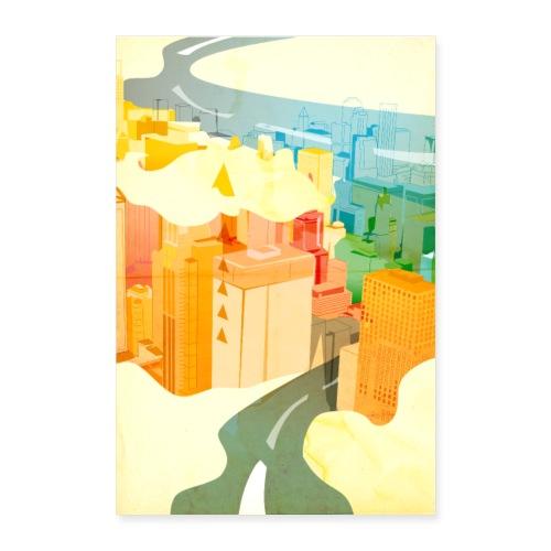 Wolkenstadt - Poster 60x90 cm