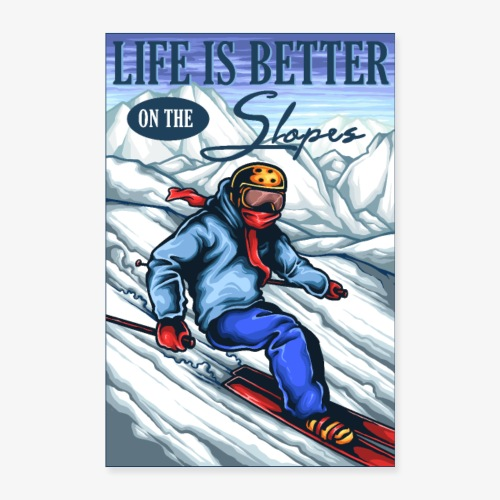 Ski Life - Poster 40 x 60 cm