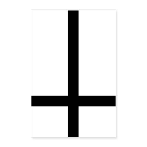 black inverted cross - Póster 40x60 cm