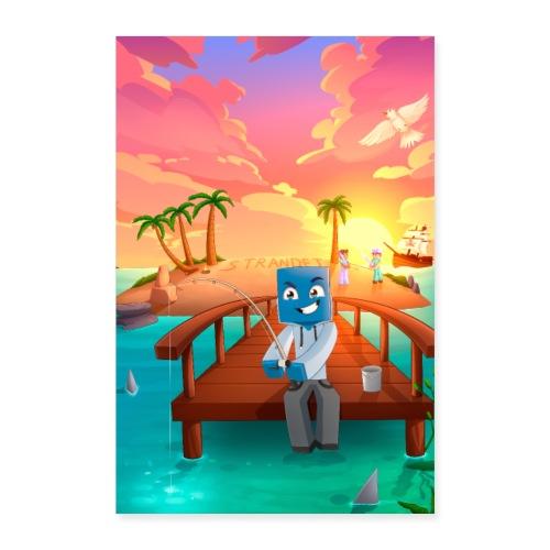 strandet poster - Poster 40x60 cm