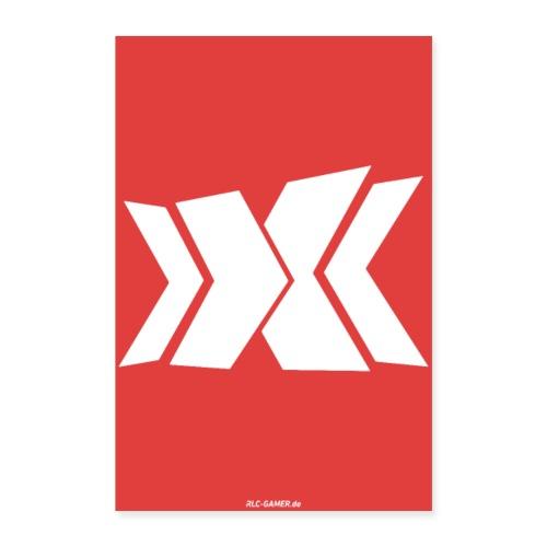 Rot/Weiß RLC Poster Logo - Poster 40x60 cm