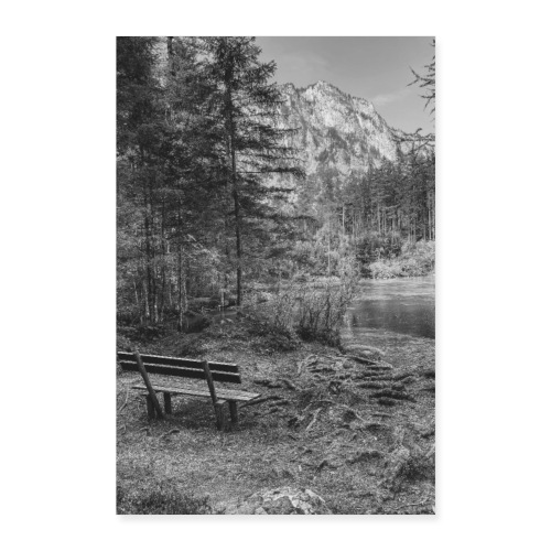 Bank am See - Poster 40x60 cm
