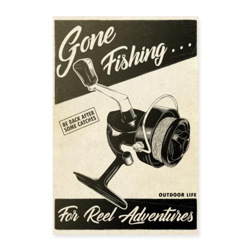 Gone Fishing - Poster 40 x 60 cm