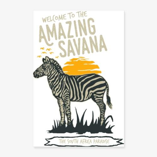Zebra - Poster 40x60 cm