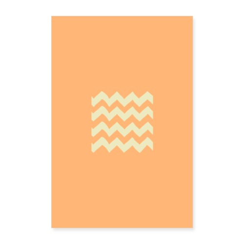orange waves - Poster 40x60 cm