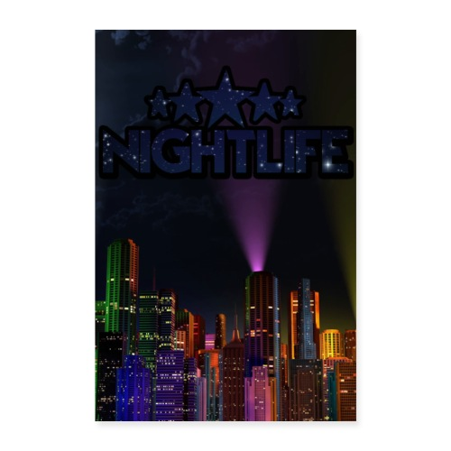 NIGHT LIFE POSTER - Poster 40x60 cm