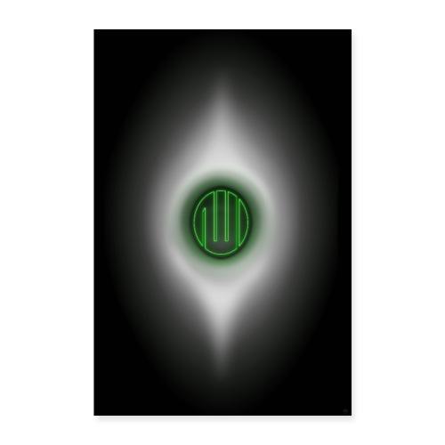 Allah-Kabe-HACERÜ`l esved Grün-Yesil - Poster 40x60 cm