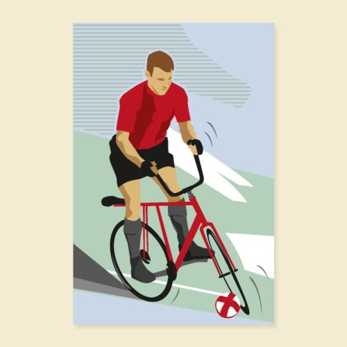 Poster | Radball | Cycle Ball Man - Poster 40x60 cm