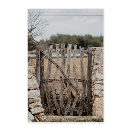 Mallorca Zaun Dorf - Poster 40x60 cm