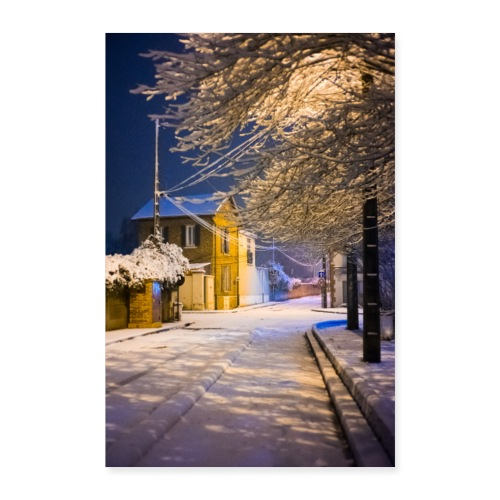 Neige nocturne - Poster 40 x 60 cm