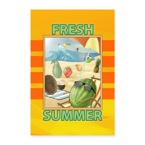 Fresh Fruit Summer - Poster 40x60 cm