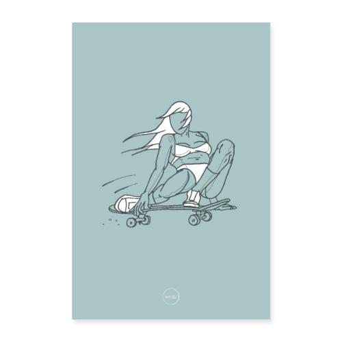 Skater Girl - Poster 40 x 60 cm