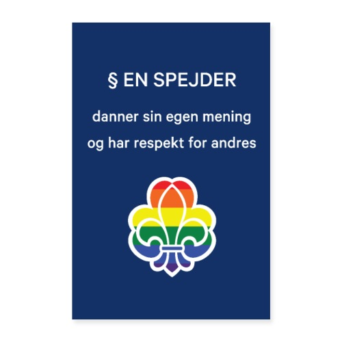 Regnbuespejderplakat nr2 - Poster 40x60 cm