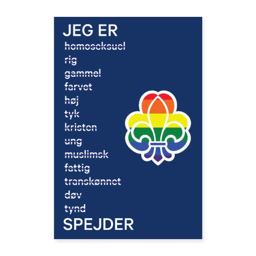 Regnbuespejderplakat nr1 - Poster 40x60 cm
