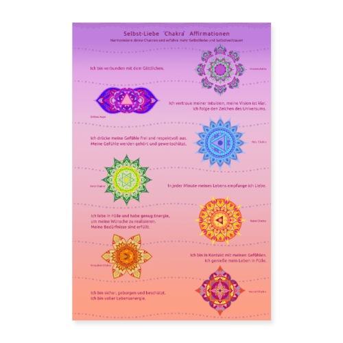 Chakra Affirmationen für mehr Selbstliebe - Poster 40x60 cm