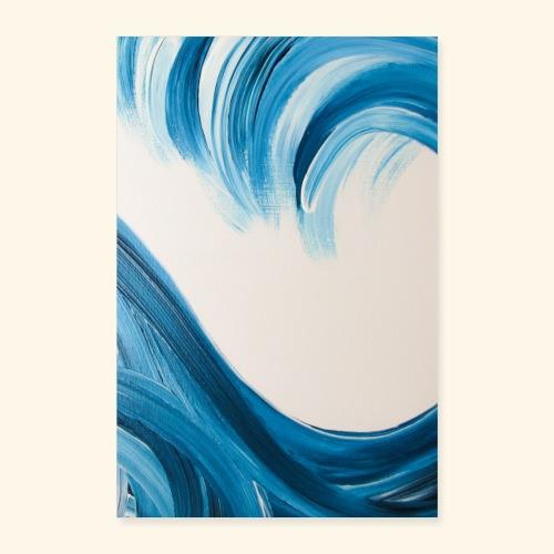 Große Welle hochformat - Poster 40x60 cm