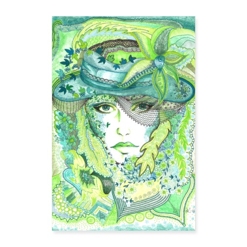 Tant Grön Poster - Poster 40x60 cm