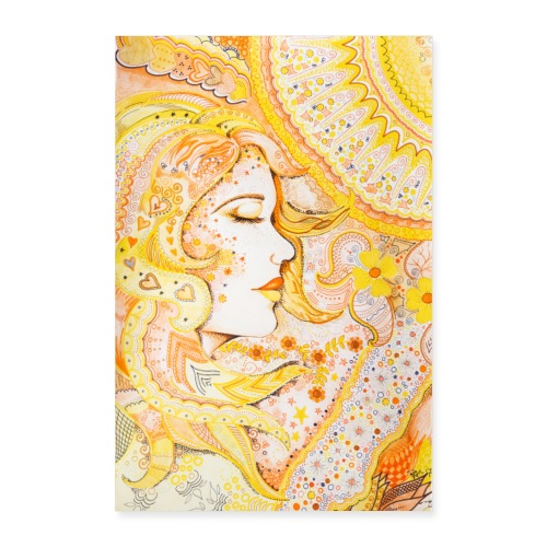 Fröken Sol Poster - Poster 40x60 cm