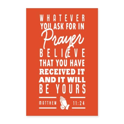 Matthew 11:24 - Poster 16 x 24 (40x60 cm)