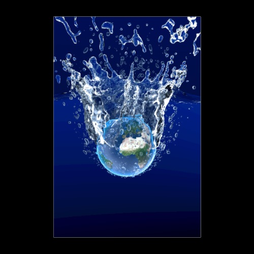 Global Warming Blue Edition - Poster 40x60 cm