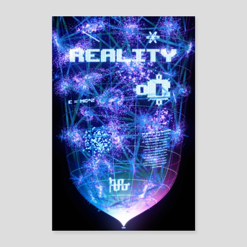 Reality: Typography Poster - Poster 16 x 24 (40x60 cm)