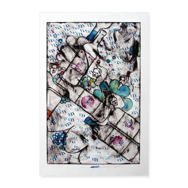 Wine series 12 60x90 cm O Fouchard