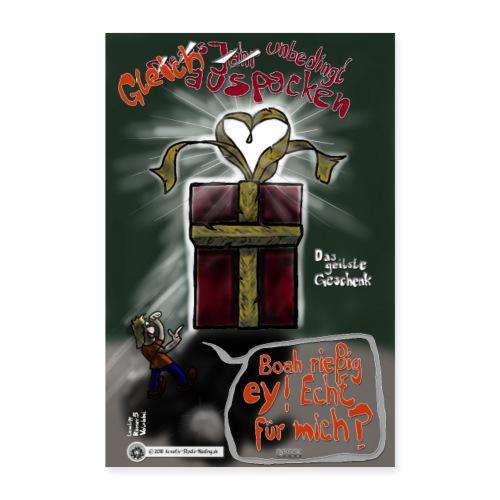 Design Das geilste Geschenk gleich auspacken - Poster 40x60 cm