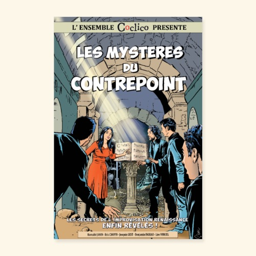 Les mystères du contrepoint - Affiche Coclico - Poster 40 x 60 cm