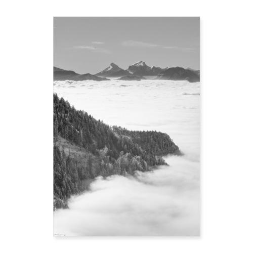 Mer de nuages depuis le Revard - Poster 40 x 60 cm