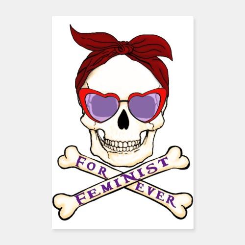 Feminist skull - Póster 40x60 cm