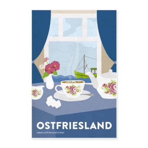 Ostfriesland Vintage Travel Poster - Tee und Kutte - Poster 40x60 cm