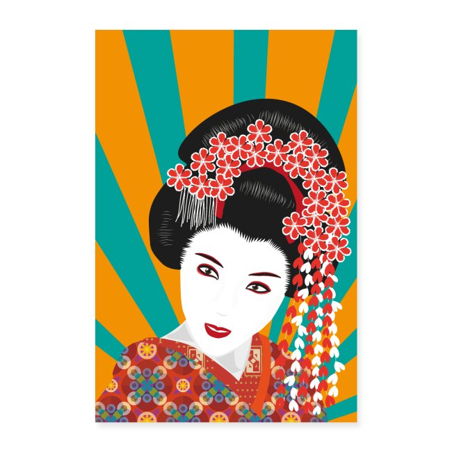Geisha - Bunte Pop Art