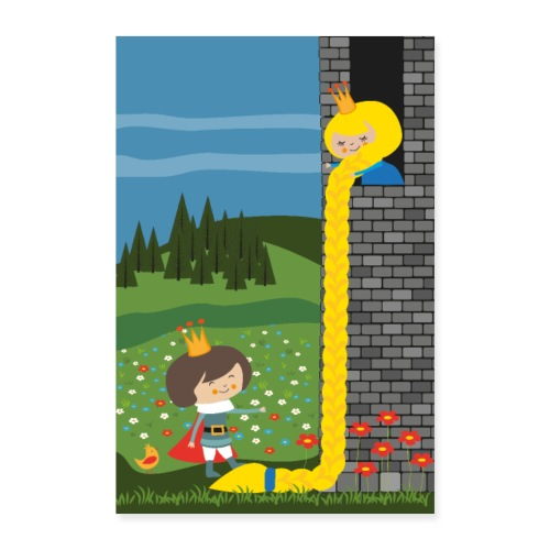 Rapunzel und der Prinz - Märchenposter - Poster 40x60 cm