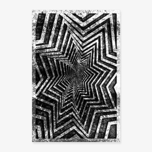 Gwiazda Grunge - Plakat o wymiarach 40x60 cm